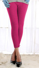 Cozy Fitted Thermal Bottom In Hot Pink