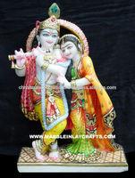 Exclusive Makrana Marble Indian God Radha Krishna Idols