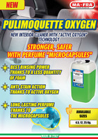 """Polimoquettes OXY interior cleaner with """"activeoxygen"""" technology"""