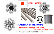 NANIWA JIS rope wire made in japan galvanized ungalvanized compacted