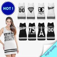 dress black white baseball college style FOUR 20 DIAMOND LA MARAIS EASY NEW YORK ONE 87 GHETTO