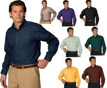 Men's Poplin Woven Button-Up Dress Shirts