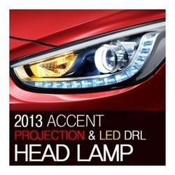 Hyundai Accent Verna Solaris 2011~2013 OEM Projection Day Light Head Light Lamp