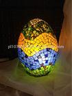 Glass Egg Table Lamp with Metal Base Oriental Handmade Lighting