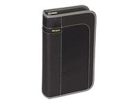 80 Capacity CD/DVD Case - Book Fold - Nylon, Polypropylene - Black, Gray