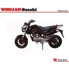 Race Bike (150cc) Wonjan-Suzuki engine, Motorcycle, , Motorbike, Autocycle,Gas or Diesel Motorcycle (SY150-18 BLACK)