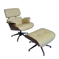 Eames Leather Luxury Lounge chair & Eames Lounge Chair with Ottoman
