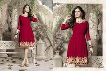 Western kurta designs for women / Classic red tunic / wholesale kurtis