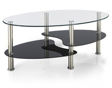 2014 Manufacturer Oval Tempered Glass Coffee Table