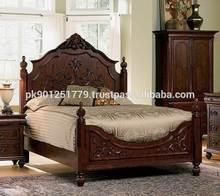 Pakistani Luxury wooden bed set , Bedroom set top quality