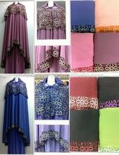 Telekung, Islamic Prayer Clothes, Baju Kurung, Jubah, Scarf, Fabrics