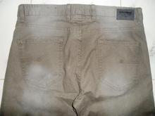 Los hombres& pull bear estiramiento denim sarga pantalón largo