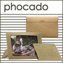 Design wood photo frame, message card, envelope, food idea for wholesale