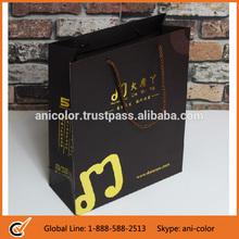 wholesale custom craft paper bag with gold foil stamp logo