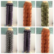 Womens Thai Silk Wrap Pants/Sarong Palazzo Harem Yoga Hippie Wide Leg Trousers