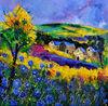 original unique oil painting Landscape Ardennes 883101