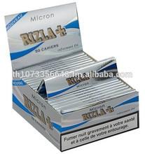 50 RIZLA SILVER KING SIZE SLIM ULTRA THIN CIGARETTE ROLLING PAPERS ORIGINAL