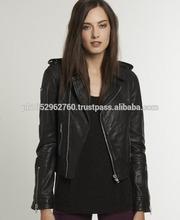 Short Body Long Sleeves Women Leather Jacket ,Women Fashion Leather Jacket For Winter (LSW-F-2163)