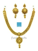 Polki Traditional Gold Necklace Set