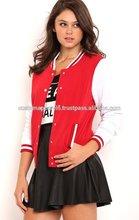 Spring & Autumn College Stylish Fashion Embroidered 100% Cotton Varsity Jacket