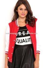 2015 Spring & Autumn College Stylish Fashion Embroidered 100% Top Cotton Varsity Jacket