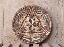 "Clay charm plate ""Cross of Peace"""