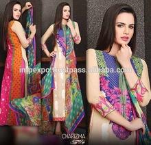 Ladies Stylish Designer Embroidered Chifoon Suit ( Chaizma Brand )