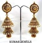 Traditional Gold Tone Jhumka Earrings