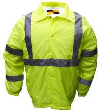 Nylon Windbreaker Coaches Jacket Reflective Striping WB03