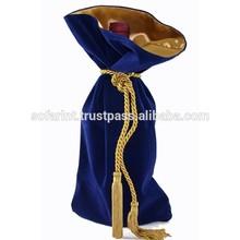 Fashionable new products wine bottle velvet bag