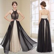 Elegant Halter Ruffles Long Party Prom Dress HE08359BG
