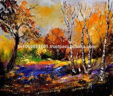 original unique painting landscape autumn in the wood 673170