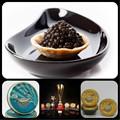 Black caviar de esturjão. Beluga, osetra, sterlet russo royal caviar