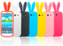 Silicon Gel Bunny Rabbit Ear Mobile Phone Cover Case for iPhone 6, iPhone 5 and iPhone 4 and for Samsung S5 and Note 3