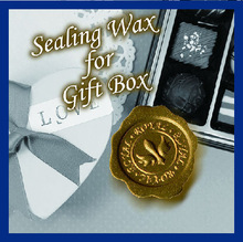 How about buying with wrapping paper? Custom sealing wax sticker