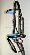 Leather Bridle -Blue Leather Padding