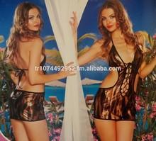 Underwear Animal printed leopar shiny bra set