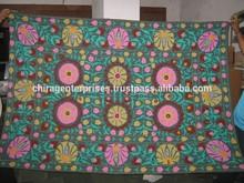 Llegada más con retraso ~ Suzani Embriodery del hogar decorativo lanza de uzbekistán, Pakistán, Turquía, India