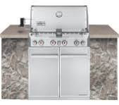 New Weber Summit Gas Grill with 4 Stainless Steel Burners - S-460 - Stainless steel