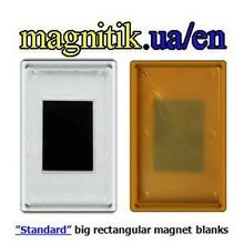 Blank Acrylic Fridge Magnet, 92x65mm (big rectangular)