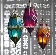 hanging morrocan lantern, candle lantern/electric fitting
