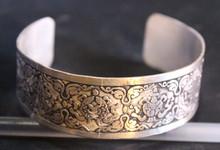 White Metal Bracelet Astha Mangal/8 Auspicius Sign Bracelet Handmade In Nepal