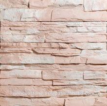 Artificial light concrete ledge stone - Vietnamese Art cladding stone