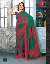 Indian designer crepe sarees / daily wear casual saris for woman / wholesale sarees surat