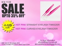 2015 New Year Sales Promotion! Get Discounted Hot Pink Eyelash Extension Tweezers under your Brand Logo