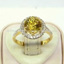 Natural Yellow Sapphire And Diamond Ring Splendid Design