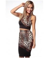 Wild Leopard Midi Skirt Set, Bodycon Top and Skirts, Sexy Clubwear