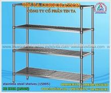 Stainless steel bar shelves