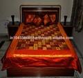 Indio étnico de retazos bordados con sábanas& almohada funda de cojín, mayorista de colchas de seda, diseñador de ropa de cama