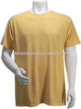BTS-300085 100% Cotton 180 gsm Short Sleeves Round Neck Blank Beige T-Shirt